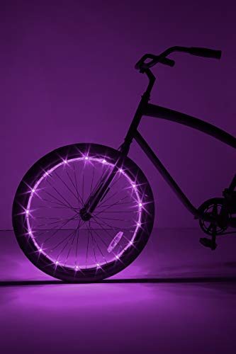 Brightz WheelBrightz LED Bicycle Wheel Accessory Light (for 1 Wheel), Purple