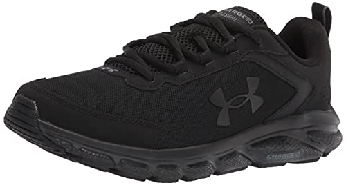 Under Armour mens Charged Assert 9 Running Shoe, Black (002 Black, 8.5 X-Wide US
