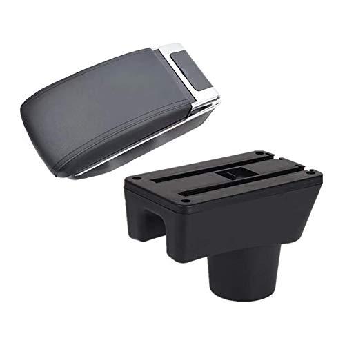 BNMKL Caja De Reposabrazos para Coche, Caja De Almacenamiento para Consola Central, Organizador De Cuero PU, Reposabrazos para Accesorios Interiores De Attrage Mirage