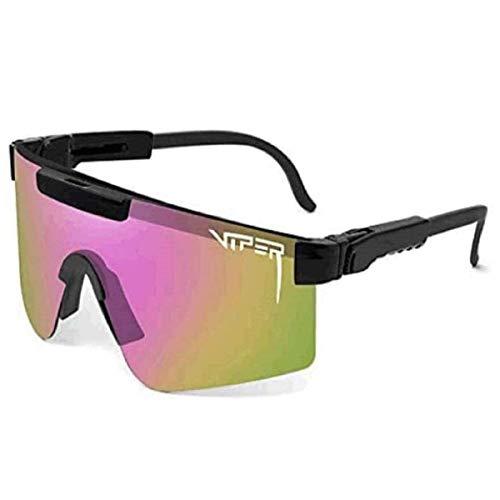 YTQ Gafas de ciclismo al aire libre UV400, polarizadas, para exteriores, resistentes al viento, para correr, deportes para hombres y mujeres (color: D)