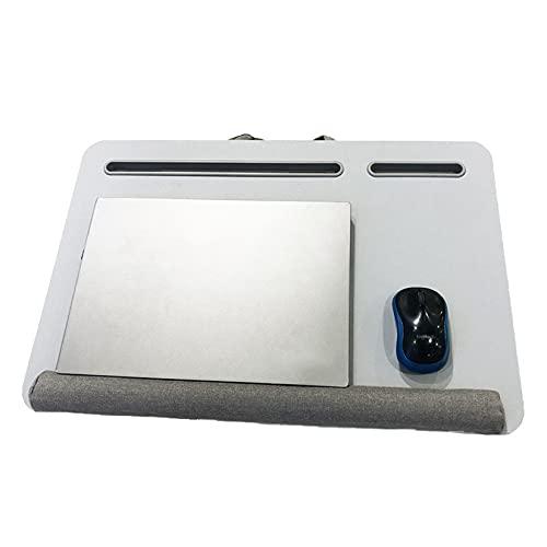 CCXX Escritorio de cama para portátil, bandeja de ordenador portátil para cama con tapa de cuero sintético, bandeja de cama para ordenador portátil con alfombrilla de ratón integrada
