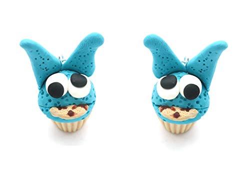 Hasen Keks Monster Törtchen Ohrringe Damen Ohrhänger handmade