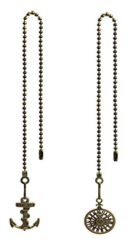Hyamass - 2 piezas de anclaje vintage y colgante de rueda para...