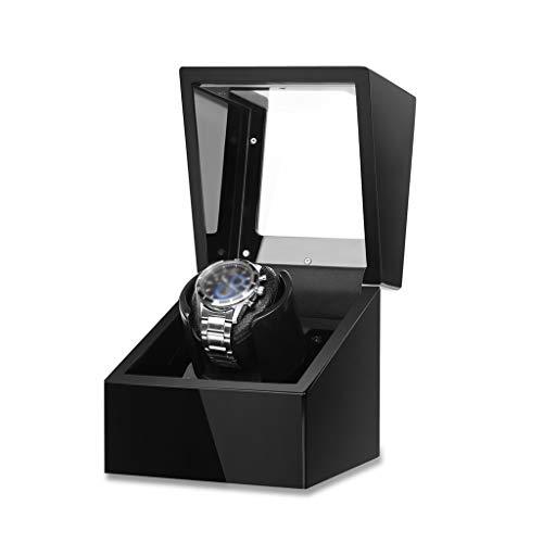 YF Caja de Reloj Raya de Reloj único para Reloj automático con Motor de Mabuchi Tranquilo y Fuente de alimentación Dual, 5 Modelos de Modo (Carcasa de Madera + Pintura de Piano) como un Regalo