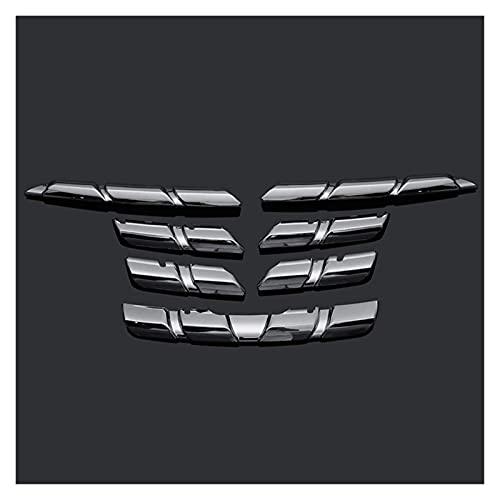 XKCCHW Accesorios para el Cuerpo, Parrillas de radiador, Cubierta de Rejilla Frontal de Coche, moldura embellecedora, Pegatina Protectora cromada para Renault para Kadjar 2015 2016 2017