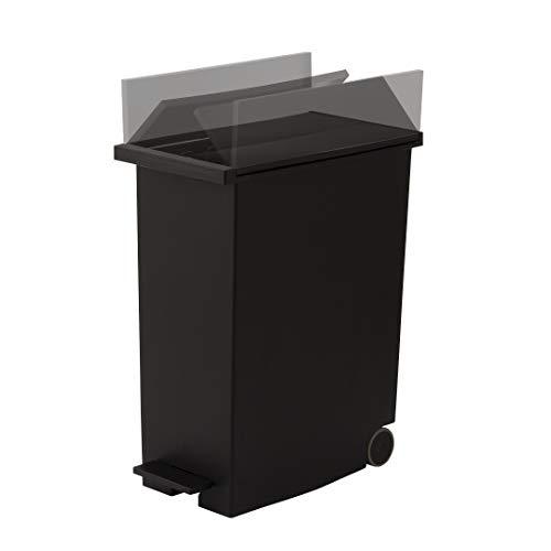 KEYUCA(ケユカ)arrotsダストボックスⅡブラック(27L/ペダル式)ゴミ箱後輪キャスター付き分別ふた付き