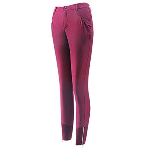 emansmoer Femmes Longues Outdoor Imperméable Quick Dry Respirant Élastique Extensible Pantalon Dames Slim Fit Sport Fitness Pantalon Escalade Randonnée Pantalon (Mdeium, Rose Rouge)