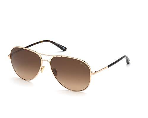 Gafas de Sol Tom Ford CLARK FT 0823 Shiny Rose Gold/Brown Shaded 59/14/140 unisex