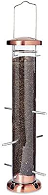 Woodlink NATUBE5 Audubon 4 Port Thistle Seed Tube Feeder, Brushed Copper