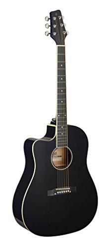 Stagg SA35dsce-bk LH–Guitarra electroacústica zurdos negra