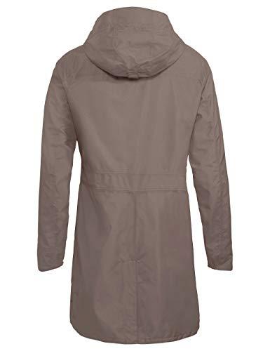 VAUDE Damen Jacke Kapsiki Coat II, Regenmantel, coconut, 36, 415425090360