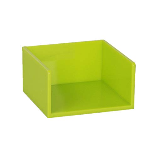 Simple Memo Holder Green Self Stick Notes Cube Dispenser Case PS Notepad Cards Holder Case 3x3 Inch for Office Home School Desk Organizers (Green)
