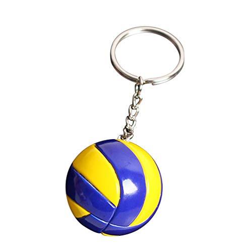 Amosfun Volleyball Schlüsselbund kreative Schlüsselanhänger Tasche Rucksack Auto hängen Ornament Ball Spiel Fan Souvenir für Party Gefälligkeiten und Schule Karneval Belohnung