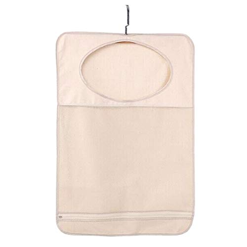 Multi-purpose 1pc Hanging Storage Organizer Mesh Canvas Laundry Hamper Storage Sundries Pocket Dirty Clothes Bag Storage supplies Storage bag