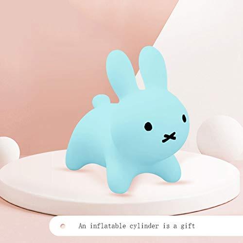 LRWTY Kaninchen-Voltigier-Pferdeaufblasbares Kaninchen, Kinder können auf die Spielwaren reiten, Himmel-Blau