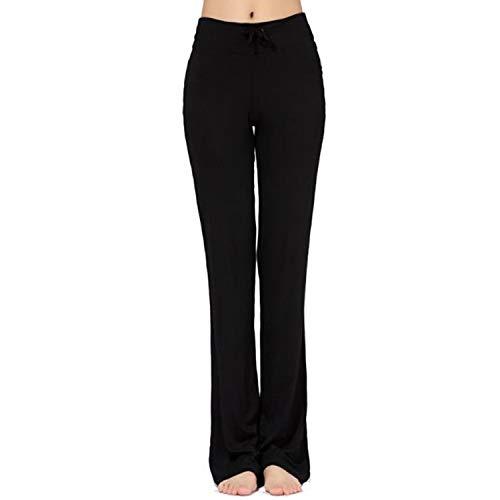 MESHIKAIER Super Doux Pantalon de Yoga Femme Pantalon de Minceur Pantalon de Danse Pantalon de Sport Pantalon Elastique et Extensible (Noir, XL)