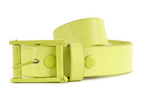 Hurley Gürtel Kunststoffgürtel Belt grün Schnalle verstellbar modisch Gr. XL HMN406 (XL)