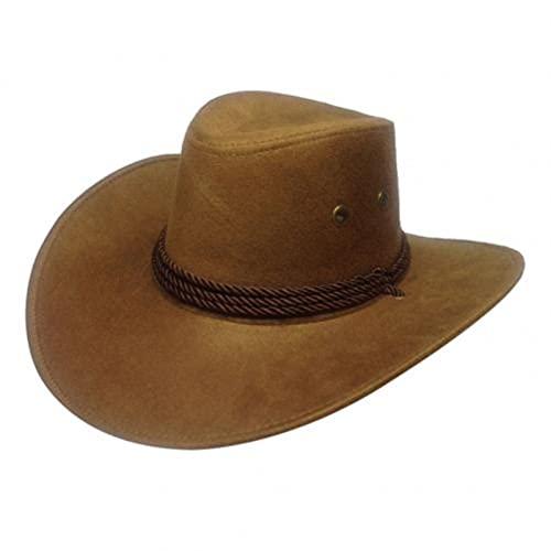Shawari Visera de Viaje para Hombre, ala Ancha, Informal, para Montar a Caballo, Sombrero de Vaquero Occidental, Gorra de Verano