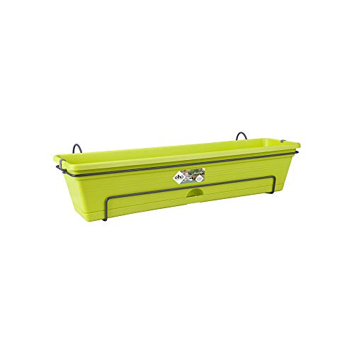 Elho Green Basics Balkonkasten Allin1 50 - Übertopf - Lime Grün - Draußen & Balkon - L 25.7 x W 47.3 x H 16.7 cm