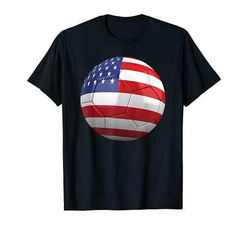 Bandera de Estados Unidos de fútbol americano Camiseta
