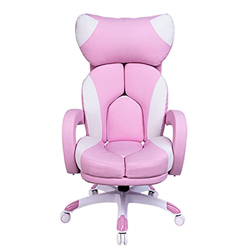Sedia da Ancora Femminile, Comoda Sedia per Computer, Sedia da Gioco per La Casa, Sedia da Gioco, Sedia dal Vivo Sedia Girevole Ascensore(Color:Rosa)