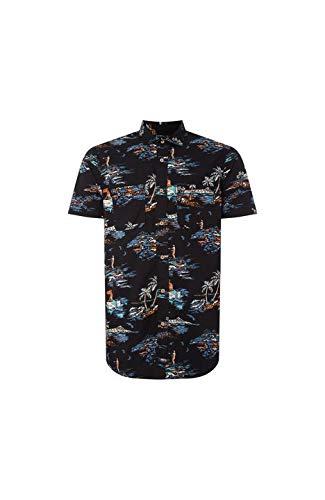 O'NEILL LM Tropical Camiseta de Manga Corta, Hombre, Multicolor (Black AOP W/Blue),...