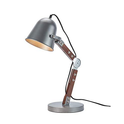 GSAGJtd Lámpara de mesa, escritorio ajustable Fold Eye-friendly de la lámpara, lámpara de cabecera, Arquitecto de la lámpara for el hogar del dormitorio, del estilo del metal lámpara de mesa retro