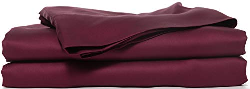 Hotel Sheets Direct 100% Bamboo Pillowcase Set - Two Standard Pillowcases Only - 20 x 30 inch - Soft as Silk - 1600 Thread Count (2 Pillowcases, Burgundy)