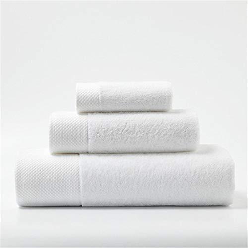 S-L Juego Toallas Toalla de baño Set Adulto Regalo Hotel Hot Spring Playa Toalla Gran Colección Casa Ropa de Cama Baño Toalla Absorbente (Color : White)