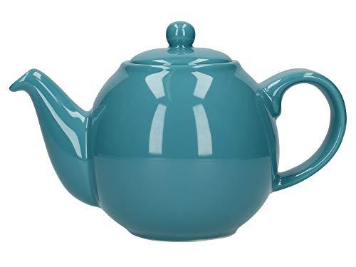 London Pottery Globe Tetera pequeña con colador, cerámica, Agua, 2 Cup (500 ml)