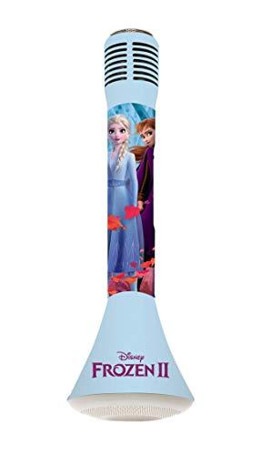 Lexibook MIC210FZ_50 Frozen 2 Die Eiskönigin ELSA Star Bluetooth mit Voice-Changer-Funktion, Mikrofon zum Singen, Eingebauter Licht Lautsprecher 3W, Micro SD-Kartensteckplatz, Blau/Violett, Sin Talla