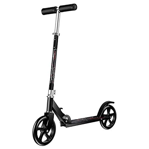 Patinete freestyle Scooter plegable de la ciudad de la rueda grande, scooter plegable de la calle, mango ajustable de altura, scooter de patada para adultos y niños, capacidad 330 libras ( Color : A )