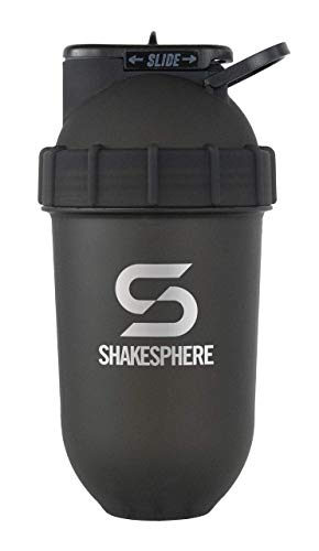 ShakeSphere Tumbler: Protein Shaker Bottle, 700ml - Capsule Shape Mixing - Easy Clean Up - No Blending Ball or Whisk Needed - BPA Free - Mix & Drink Shakes, Smoothies, More - Frosted/White
