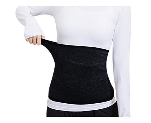 Afinder Winter Rückenwärmer mit Tasche(für Wärmekissen/Kirschkernkissen) Elastisch Nierenwärmer Dicken Wolle Nierengurt Sportbandage Bauchwärmer Wärmegürtel Leibwärmer Hüftwärmer Bauch Taille