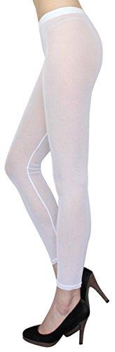 dy_mode Transparente Leggings in Sommerfarben/Durchsichtige Netz Leggings Strumpfhose - elastisch One Size 36 bis 42 - YLG114 (YLG114-White)