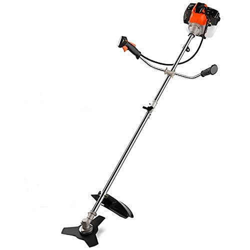 42.7CC 2-in-1 Weed Eater Gas Powered Cordless Grass Trimmer/Edger, 2-Cycle Gas String Trimmer with U-Handle and 2 Trimming Heads/Weed Solar Panel Foldable 120W Solar Panel Charger for Suaoki/Enkeeo