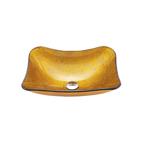 Juego De Lavabo De Lavabo De Baño De Forma Redonda Tipo Barco Amarillo Dorado, Lavabo De Recipiente De Vidrio sobre Lavabo,B 3 Accessory