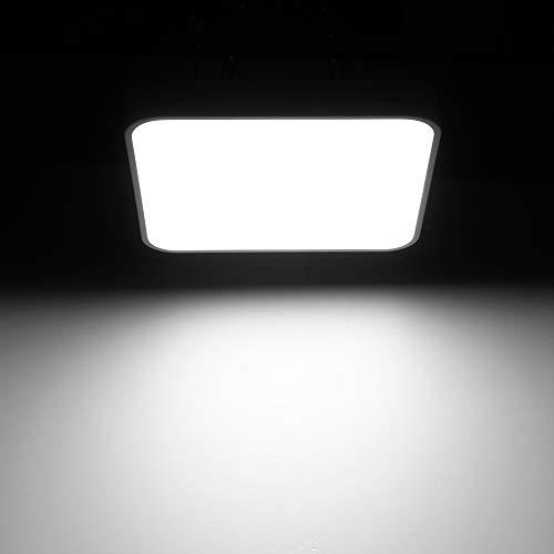 Miaoyou - Luz de techo LED de 36 W, panel cuadrado ultrafino, LED blanco cálido, 3200 K, 8000 lm, luz de techo para salón, dormitorio, baño, cocina, pasillo y balcón