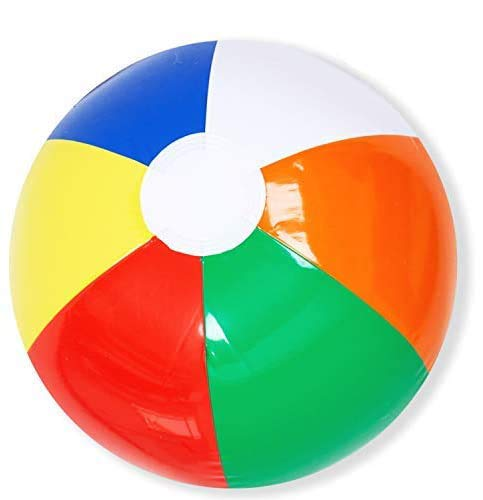 "JOYIN 8""(20cm) Rainbow Beach Balls (12 Pack); Inflatable 12Pcs Beach Pool Party Toys Multi-colored"