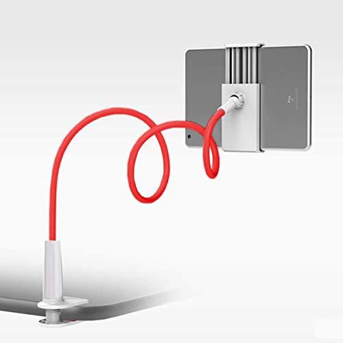 Lumanby Soporte flexible de cuello de cisne de 360 ° para tableta, soporte de escritorio, soporte de brazo largo, soporte para teléfono o tablet de 4 a 10,5 pulgadas, 1 unidad (rojo)