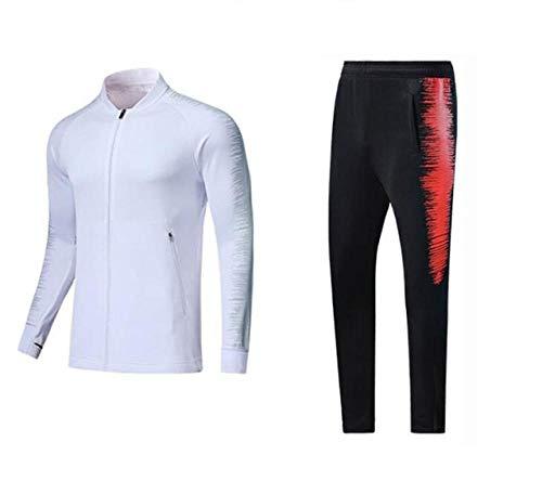 Bmstjk primavera autunno calcio tuta allenamento a maniche lunghe pantaloni allenamento set sport corsa ciclismo fitness tuta multicolore XXX-Small
