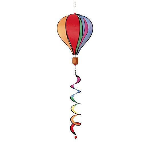 HQ Windspiration 109326 - Hot Air Balloon Twist Rainbow, UV-beständiges und wetterfestes Windspiel - Länge: 104 cm, Ø: 28 cm, inkl. Aufhängung