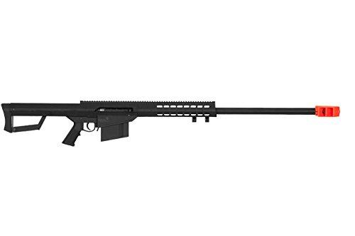 Lancer Tactical LT-20B M82 Polymer Spring Powered Airsoft Sniper Rifle - Black