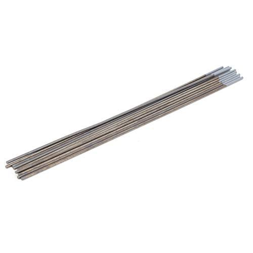Electrodo de Tungsteno de Varilla WC20 de 10 Piezas, Aguja de Arco Gris, Tungsteno de Soldadura, Respetuoso con el Medio Ambiente, con Rendimiento Estable, para Soldar Productos Finos de Acero Inoxida