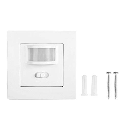 Interruptor de sensor PIR, interruptor de detección de infrarrojos, distancia de detección de ABS de 5-10 m / 16,4-32,8 pies con paquete de tornillos para almacenes comerciales