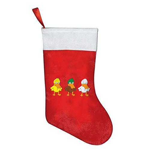 KDU Fashion Christmas Ornaments,Angry Cartoon Ducks Xmas Ornaments,Premium Christmas Stockings For School Teach Students,26x42cm