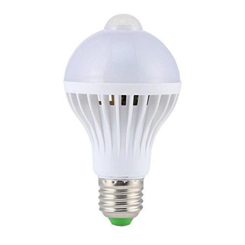 5W E27 LED PIR Bewegungssensor Selbst Lampen Birne Infrarot Energieeinsparung Licht