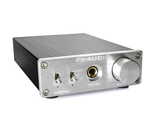 FX-AUDIO- DAC-X6J[シルバー]高性能ヘッドフォンアンプ搭載ハイレゾ対応DAC 最大24bit 192kHz