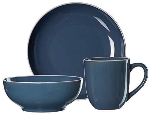 Ritzenhoff & Breker Van Well Linus - Vajilla para desayuno (3 piezas), color azul