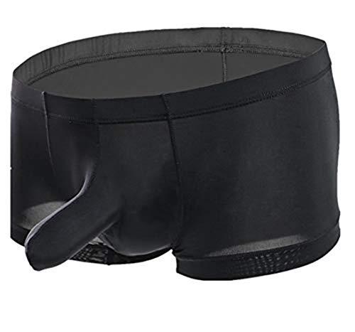 WLITTLE Herren Slip Unterwäsche Unterhose Ice Silk String mit Penishülle Briefs Tanga Slips Reizwäsche